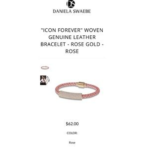 Daniela Swaebe ICON FOREVER WOVEN LEATHER BRACELET